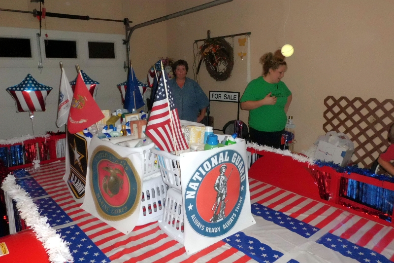 The LBFOL float honored all four branches of the military.
