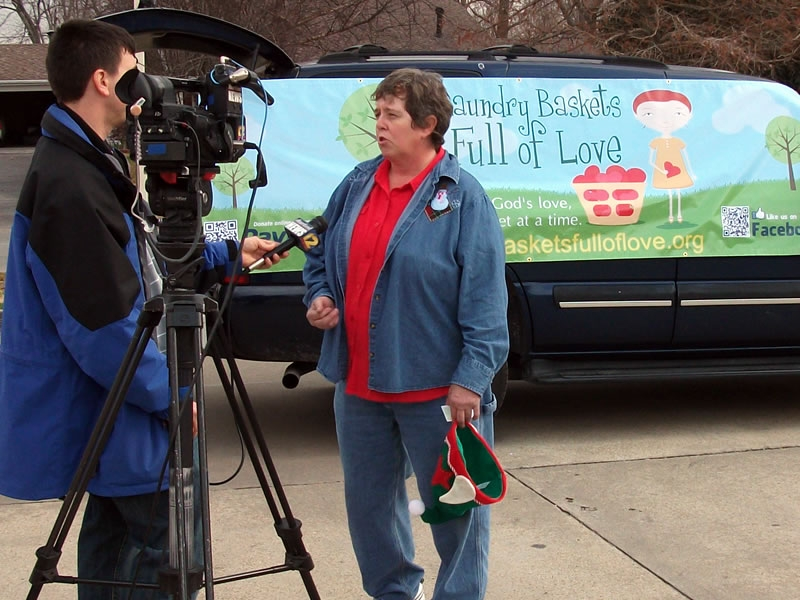 LBFOL Founder & President Marilyn Hull interviewing for KFVS12 evening news