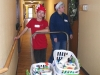 Delivering baskets to grateful residents