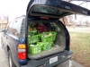 The men\'s baskets are loaded and ready to go