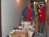 LBFOL Founder & President Marilyn Hull pushes a cart full of baskets to be delivered