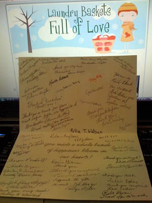 First Thank You Card from the SEMO Foster Grandparents Association
