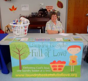 The LBFOL booth at the East Prairie Nutritional Center Health Fair