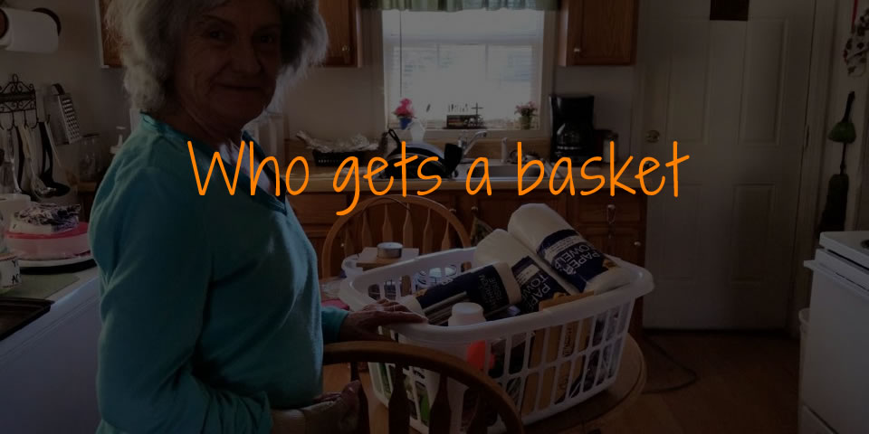 Who gets a basket